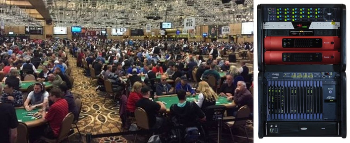 ESPN's production of top-flight Vegas poker tournament coverage relies on mix of Clear-Com wired and wireless intercoms