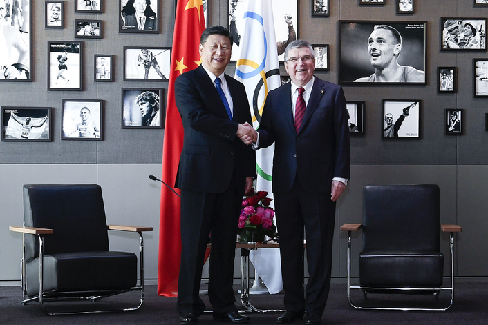 Historic visit by Chinese President Xi Jinping emphasises strong ties with IOC