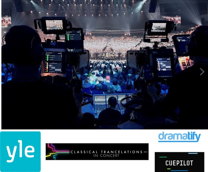 YLE INTEGRATES DRAMATIFY AND CUEPILOT FOR WORKFLOW FOR LIVE CLASSICAL CONCERT PROGRAM, 'CLASSICAL TRANCELATIONS'