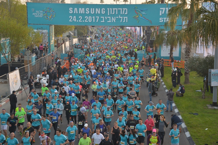 SPRINTING FOR SUCCESS AT TEL AVIV MARATHON
