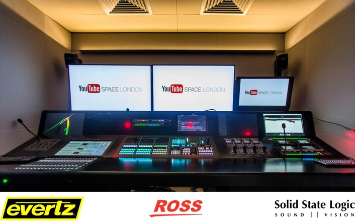 YOUTUBE SPACE LONDON GOES IP WITH SSL, EVERTZ, AND ROSS VIDEO