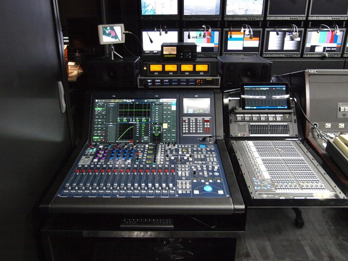 The new 16-fader mc²36 installed for mobile use reflects Lawo's reputation for reliability and its forward-focused design philosophy.