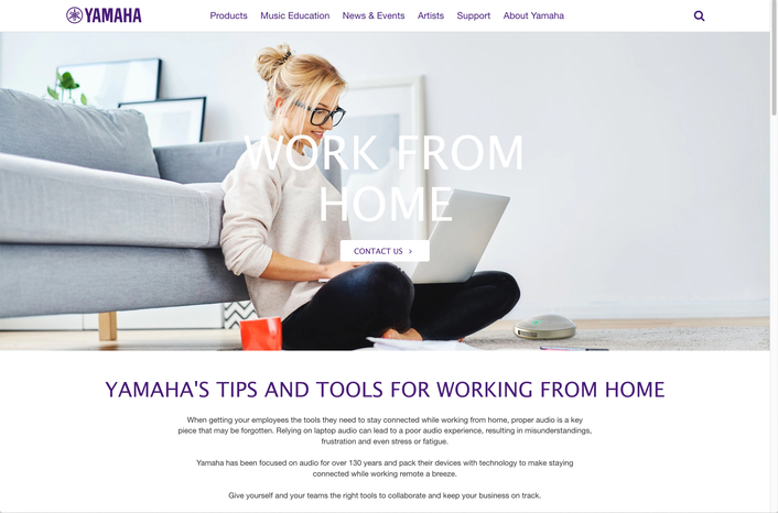 Yamaha Unified Communications Europe Launches New Work From Home Initiative and Website
