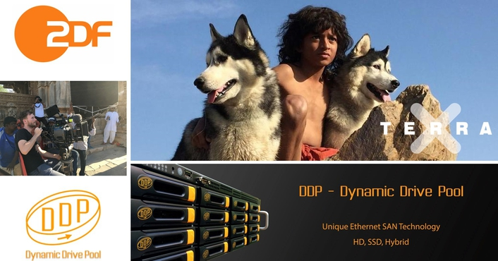 DDP shared storage as central storage at ZDF's first in-house 4K/VR production