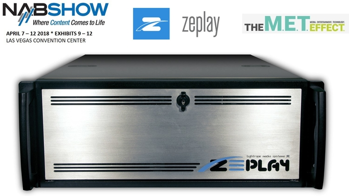 ZEPLAY Re-Emerges at 2018 NAB Show with New Ownership
