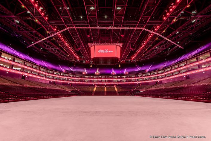 Coca-Cola Arena - 100% LED, 100% teamwork.