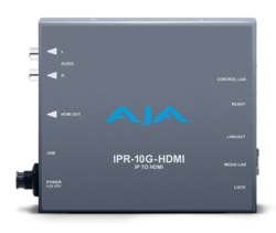 IPR-10G-HDMI Converter Bridges IP to HDMI;  Desktop Software v14.2 Adds SMPTE ST 2110 Support to KONA IP