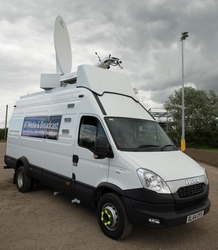 TES52 the first OB vehicle in the UK able to transmit multiple HD and UHD/4K visions via fibre and satellite simultaneously