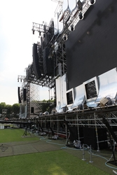 """[Tonal balance] Sun-Joong Kim also served as FOH sound engineer for the tour. """"It's clear that the GSL System is optimised for large tours like this one,"""" he says. """"Generally, there is an excess amount of low frequency on the main stage when you rig large"""