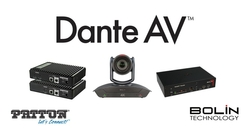 Audinate's Dante® AV Now Available with New Products From BOLIN Technology and Patton Electronics