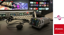 Riedel MediorNet, Artist, and Bolero Drive Video and Comms Networks On Board AMP VISUAL TV's Newest OB Vans