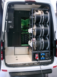 State of the art Hitachi production vehicle goes where larger trucks cannot; televises diversity of sporting, cultural and entertainment events