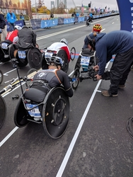 VidOvation's AVIWEST Bonded Cellular System Rides Along During NYC Marathon's Women's Wheelchair Race