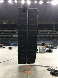 Ryan Knox, senior consultant at Idibri, points out that the Alamodome's new sound system designs began with modeling in L-Acoustics' Soundvision, the first 3D sound system design program capable of operating in real time. Beyond the main K2/KS28 arrays,