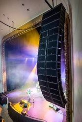 Today, the venue's main system comprises 13 K2 loudspeakers per side in a two-hang stereo system, each array topped with three K1-SB subs, while eight KS28 subs are ground-stacked below, four per side. The Palace Theatre is architecturally complex, with a