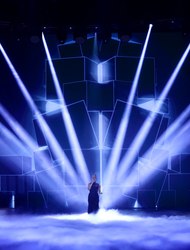 The show was staged for the first time at LH2 Studios in Park Royal, north-west London, and joining the 43 x MegaPointes on Tim's rig were another 270 Robe fixtures …112 x Spikies, 52 x Spiider LED wash beams, 37 x BMFL Blades, 34 of the brand new LEDBeam