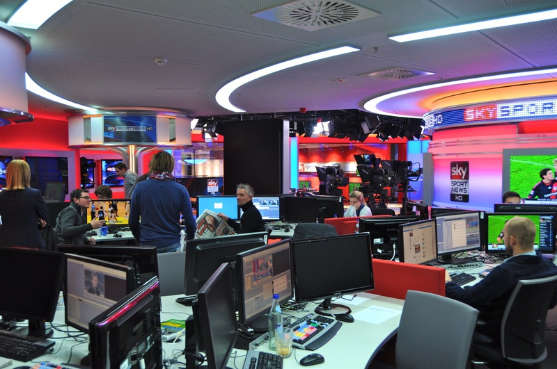 Production Studios Sky Sport News Studio Live Production Tv