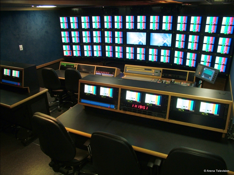Ob trucks arena ob 8 live production tv for Interieur u arena