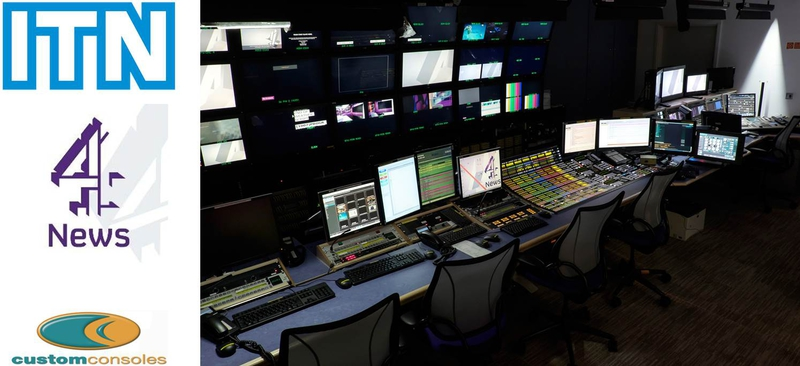 ITN Chooses Custom Consoles Desks for Channel 4 News | LIVE