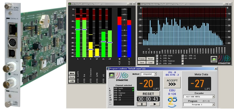 NEXUS XCPU09 Board with Loudness Metering, Spectral Analysis and