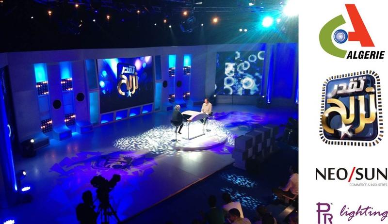 PR Lighting Stars on Algerian TV Game Show | LIVE-PRODUCTION.TV