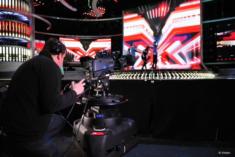 Vinten Supports The X Factor Live Production Tv