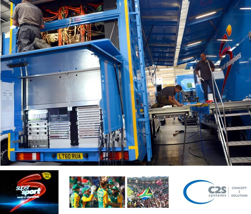 C2S Systems Builds Dual-Truck OB for SuperSport | LIVE
