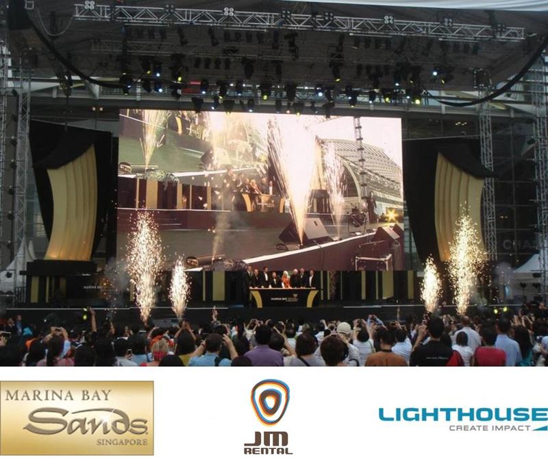 JM Rental High-Definition LED Screens Light Up Marina Bay Sands