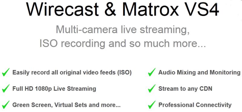 Matrox VS4 Quad HD Capture and ISO Recording Card for Telestream