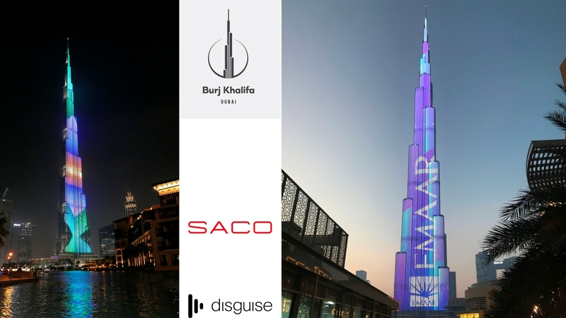 disguise supports SACO to Reach New Heights at Burj Khalifa