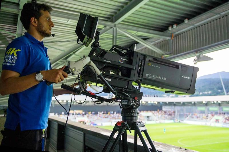 Nep s first 4k obvan in switzerland relies on panasonic 4k for Camera it web tv