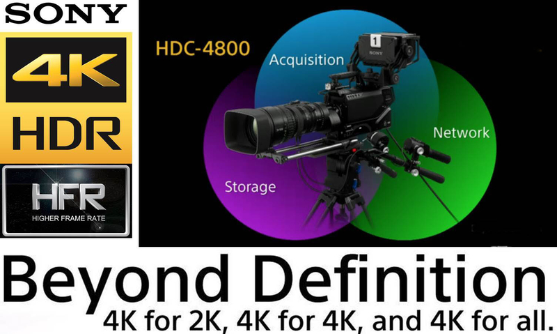 hdrc 4000 hdr production converter unit for hdrsdr simultaneous production hdc p43 4k pov camera supports hdr and hfr capture