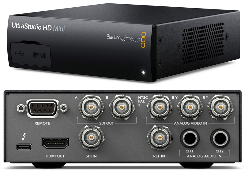 Blackmagic Design Announces New Ultrastudio Hd Mini With Thunderbolt 3 Live Production Tv