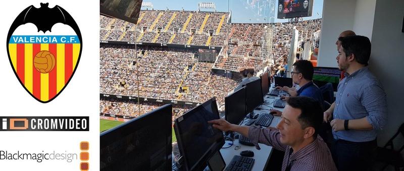 Valencia Club de Fútbol Drives Stadium AV With Blackmagic