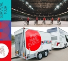 1,700km – 130 iconic venues and festival sites – 5 cyclists