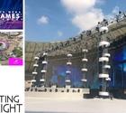 Lighting the WEGA Global Games OC in Doha